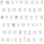 Hindi Alphabets Letters tracing Worksheet